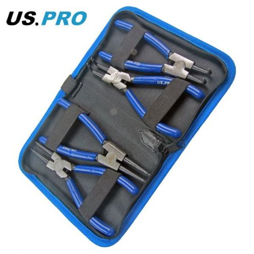 US Pro by Bergen Tools 4pc 6'' Circlip Pliers